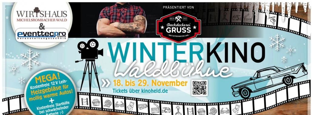 Winterkino Waldbühne - präsentiert von Dachdeckerei Gruss